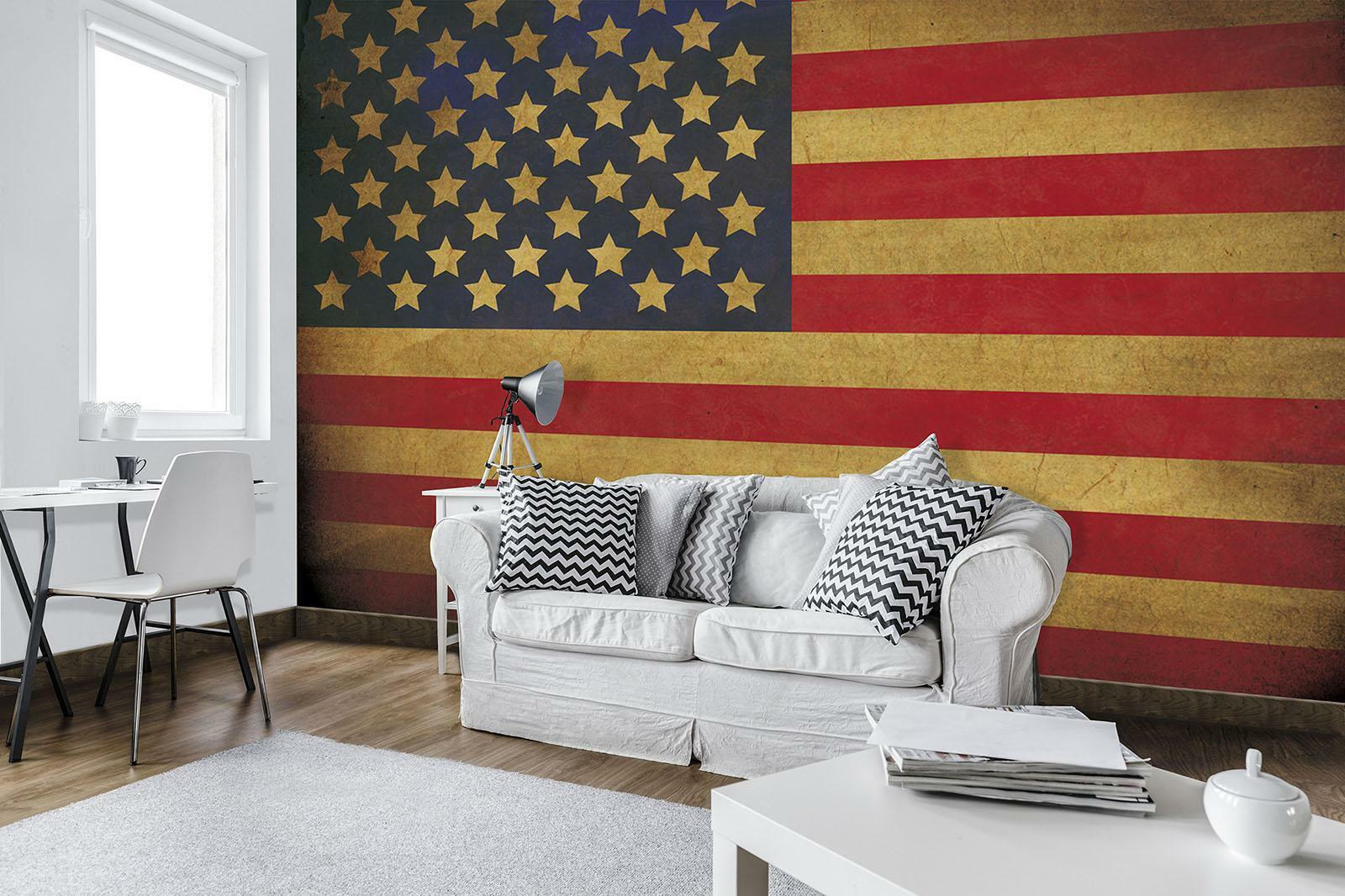 Vließ Fototapete Tapete Wandbild Flagge der USA 310679_VEMVT