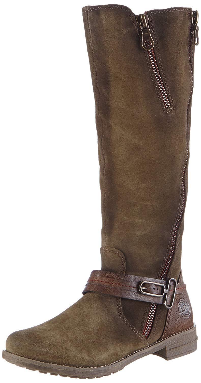 Marco Tozzi Khaki 25613 Khaki Tozzi Grün Knee High Length Suede Stiefel Größe UK 4 6a1d8f