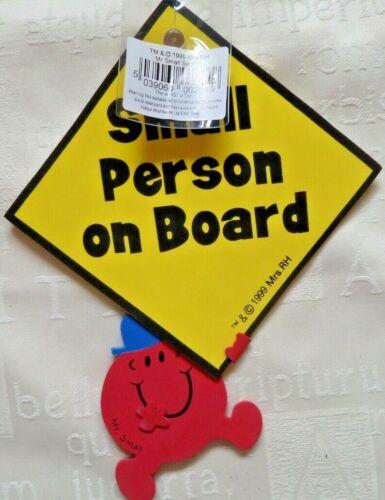 Mr Men Mr Small Car Window Sucker Sign Small Person On Board Badge Boy Girl