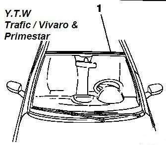 VAUXHALL VIVARO TOP WINDSCREEN RUBBER TRIM 7700313513