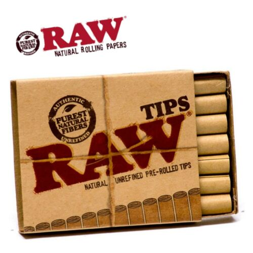 21 PER PACK, 105 TIPS AUTHENTIC RAW NATURAL UNREFINED PRE-ROLLED TIPS 5 PACKS