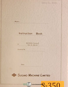 Sugino Selfeeder ESC-W & ESD-W, Electrical and Parts Manual