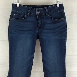 Lee-Riders-Petite-Womens-10P-Stretch-Blue-Dark-Wash-Soft-Mid-Rise-Bootcut-Jeans