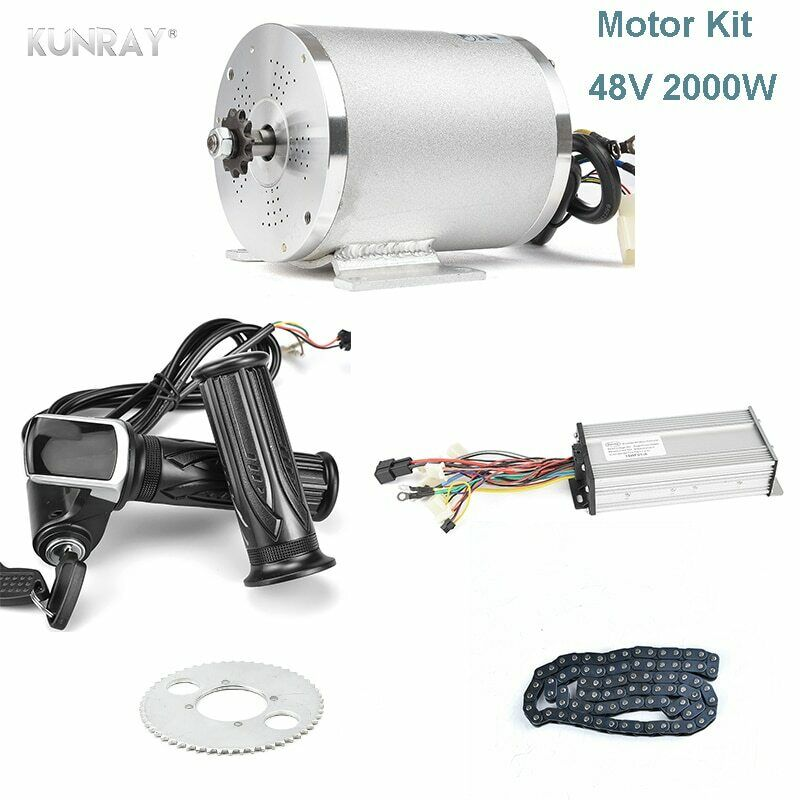 48V 2000W Brushless Electric Motor for Electric Bicycle Cyke Controller LCD