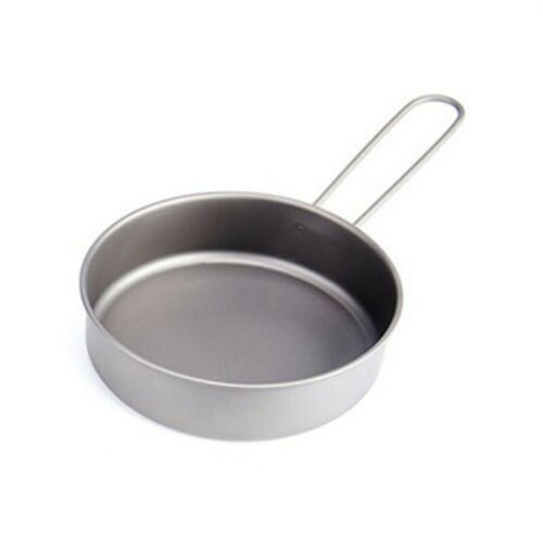 Frying Pan Camping 1pc Titanium alloy Silver Portable Hiking Travel Cooking