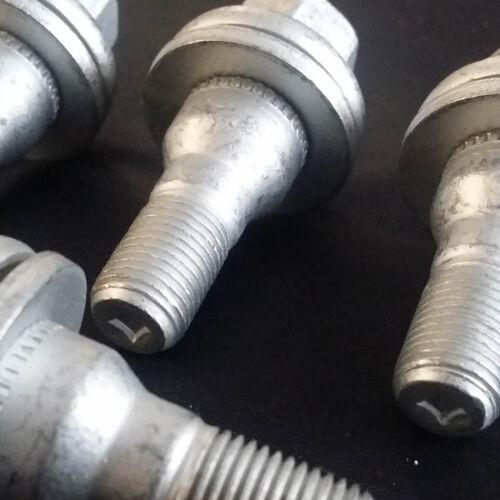 4 X M12x1.25 filetage 50 mm 17 mm Hex écrous De Roue Alliage Boulons Plat Siège pour Peugeot