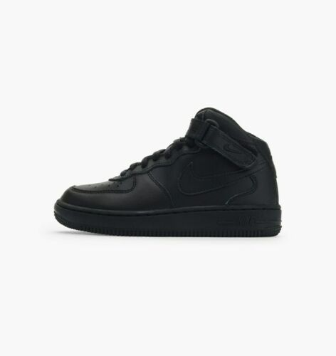 Nike Preschool Air Force 1 Mid PS Shoes NEW AUTHENTIC Triple Black 314196-004