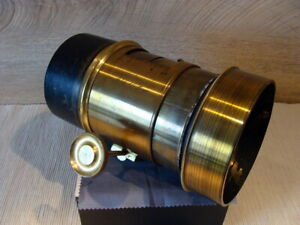 Darlot-Opticien-Paris-Brass-Messing-Lens-034-Trousse-Anachromatique-1899-RAR