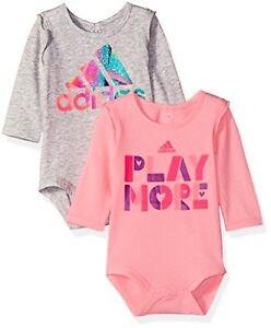 cb456a100 Adidas (LT) Childrens Apparel adidas Baby Girls Logo Body Shirt Set ...