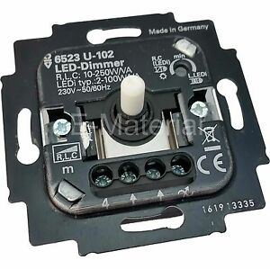 busch jaeger 6523 u 102 led dimmer f r drehbet tigung 2 100w va neu ebay. Black Bedroom Furniture Sets. Home Design Ideas
