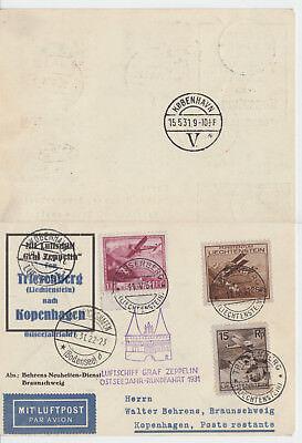 Ostseejahr 1933 - Rückfahrt Kopenhagen - Friedrichshafen Zuleitung Liechtenstein Bestellungen Sind Willkommen.