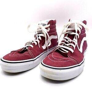 Vans-Off-The-Wall-Hightop-Suede-Sneakers-Berry-Size-8-Men-9-1-2-Women-skate