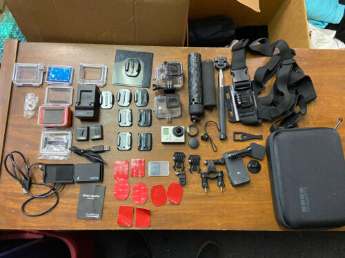 GoPro HERO 3  Plus Silver Edition WITH ACCESSORIES! 48 Pieces Total! Nice!!