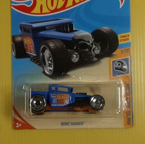 BONE SHAKER Hot Wheels 50th Anniversary BLUE,ORANGE /& WHITE Wheels Lot of 4