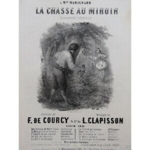 CLAPISSON-Louis-La-chasse-au-Miroir-Chant-Piano-1852-partition-sheet-music-score