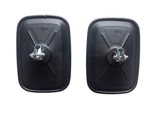 2x Außenspiegel Rückspiegel UNIVERSAL 180x125mm ø10 Bagger Traktor Baumaschinen