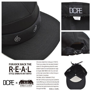f8ea4fdb01a Image is loading DOPE-paisley-tie-back-cap-hat-black-snapback-