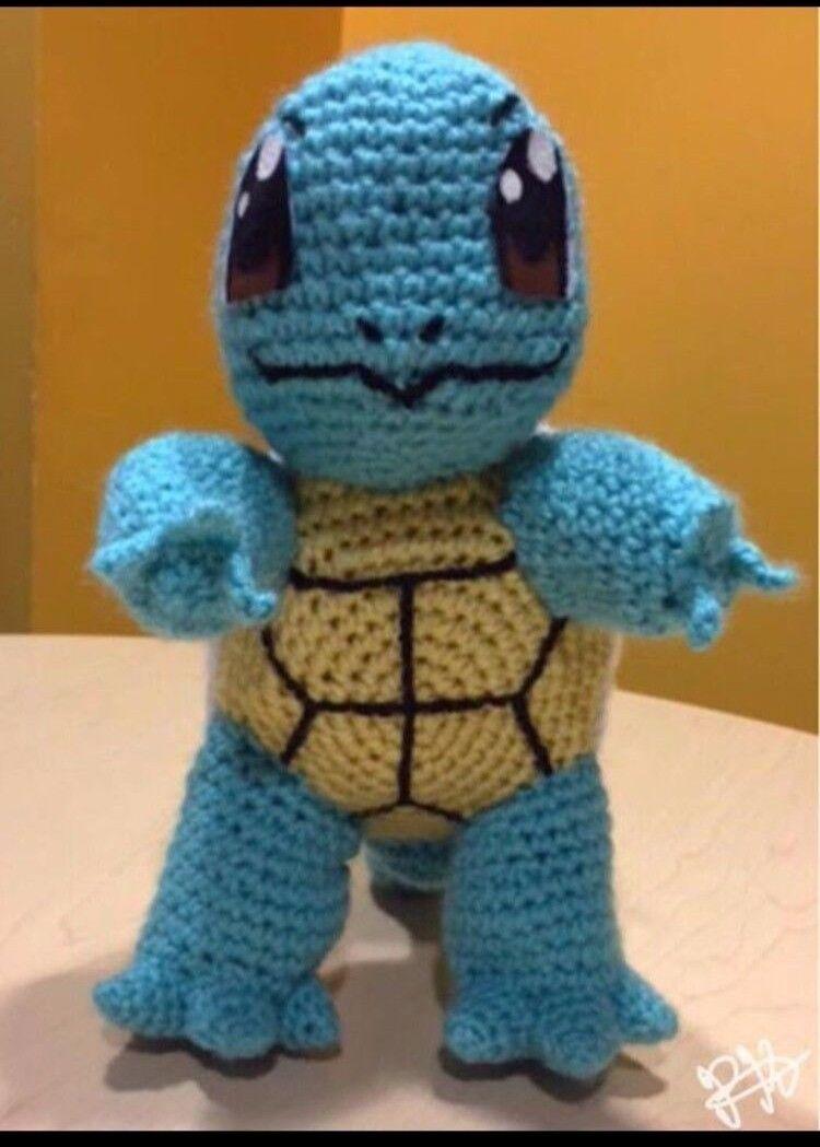 Handgjort Crochet Pokemon Plush leksak - Squirtle