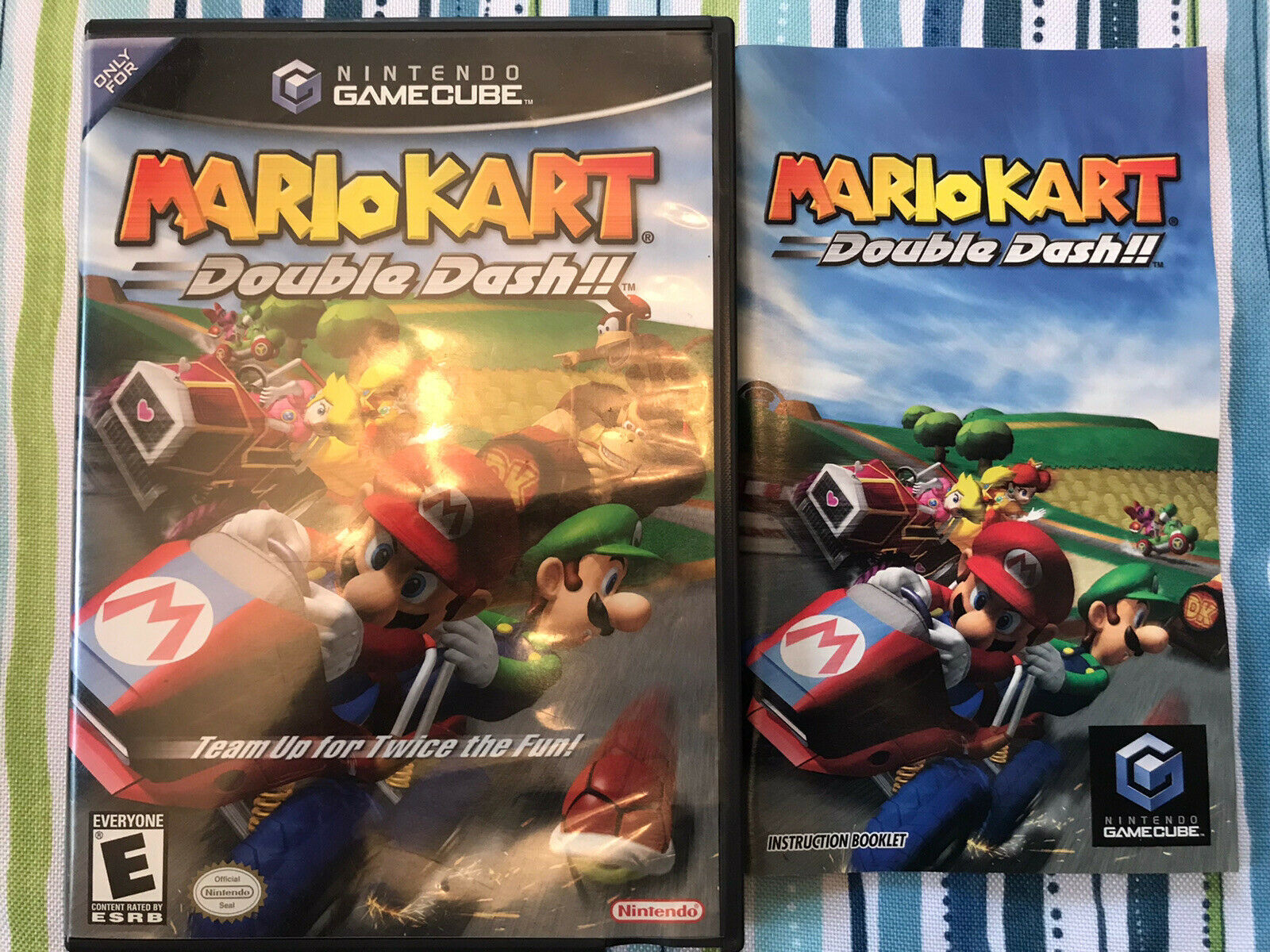 Mario Kart Double Dash Gamecube Case Manual Only No Game For
