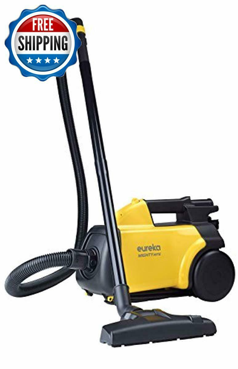 Eureka Mighty Mite Corded Canister Vacuum Cleaner, Yellow, Pet Auto Shut Off