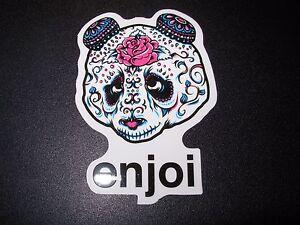 """ENJOI KISS paul stanley Panda Logo Sticker 4/"""" skateboard helmet decal"""