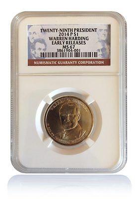 NGC MS67 2014-D Warren Harding Presidential Dollar Gem Early Releases