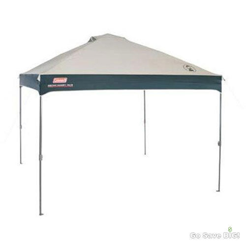 Coleman Instant Canopy  10' x 10' Straight Leg Gazebo Tent Patio Outdoor Shelter  a lot of surprises