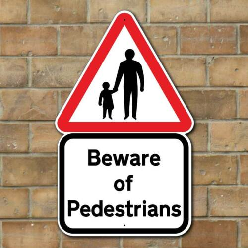 BEWARE OF PEDESTRIANS Slow Down Sign Childen playing signs Beware Road Sign
