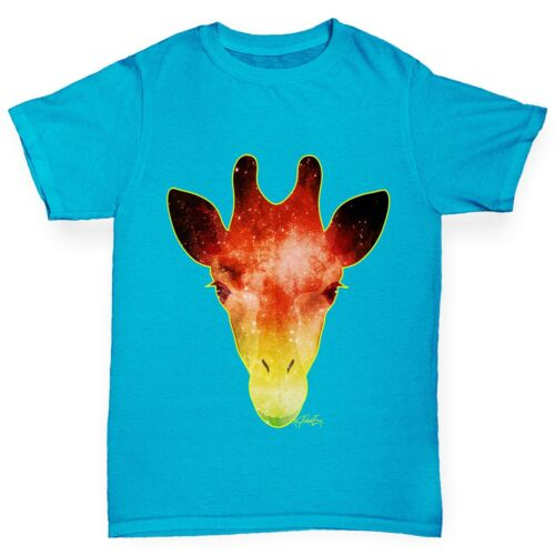 Twisted Envy Girl/'s Giraffe Galaxy Printed Cotton T-Shirt
