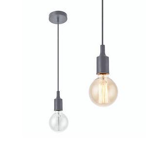 lux-pro-luce-a-sospensione-Montatura-LAMPADA-PLAFONIERA-grigio-Retro