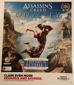 Assassin-039-s-Creed-Odyssey-Gamestop-Promo-Poster-Rare