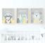 Woodland-Animals-Nursery-Prints-Woodland-Animal-Prints-Yellow-And-Grey-Nursery thumbnail 1