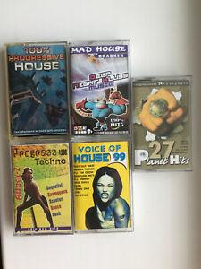 Set 5 audio cassettes Techno'98 Progressive House / Planet hits 27 Russia 2000's
