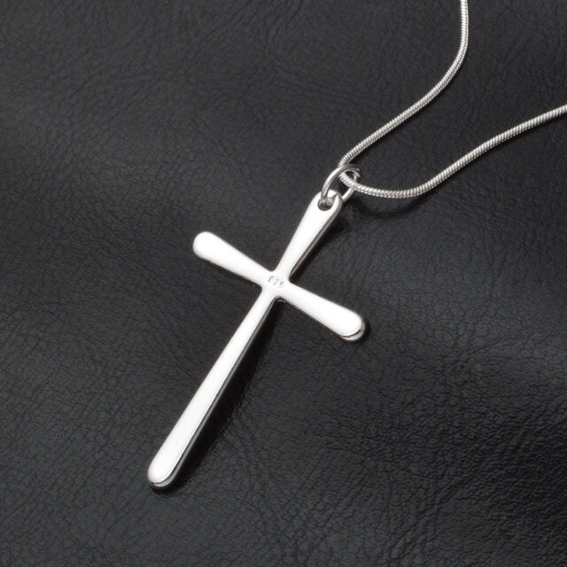 2018 Fashion 925 Sterling Silver Charms Cross Pendant Beautiful Women Necklace