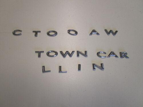 OEM Lincoln Town Car Trunk Silver Emblem Letter Letter N only