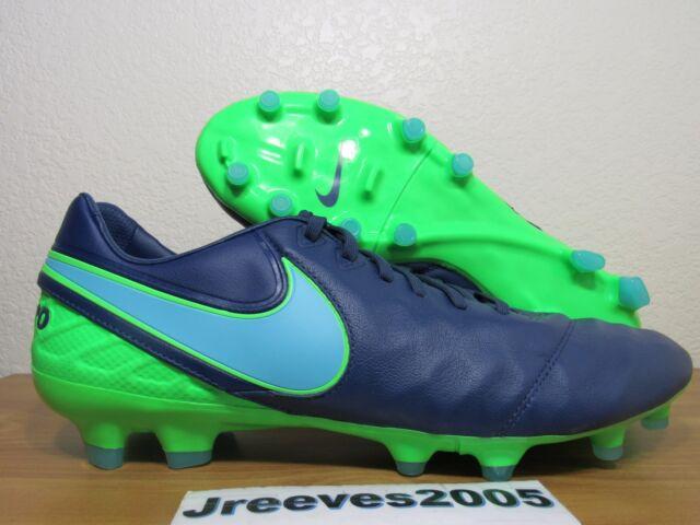 buy popular a29b4 5c280 Nike Tiempo Legacy II FG Cleats Sz 11.5 100% Authentic 819218 443 Coastal  Blue