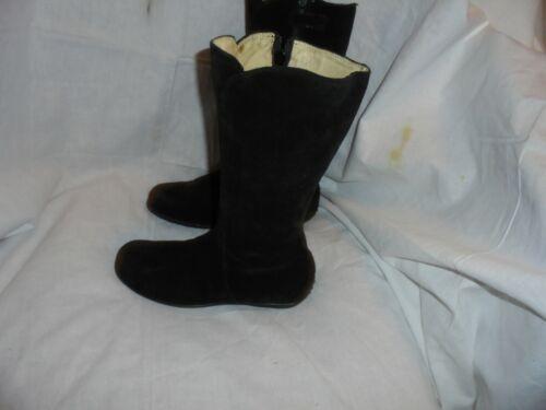 Papillon Londres Mujeres Cuero Negro Cremallera Mitad de pantorrilla Boot Size UK 3 EU 36 en muy buena condición