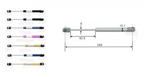 Gasdruckdämpfer Gasdruckfeder Gasfeder 248mm 80N schwarz 9938