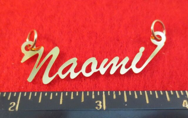 """14KT GOLD EP /""""REGINA/"""" PERSONALIZED NAMEPLATE WORD CHARM PENDANT 6338"""