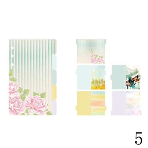 Packung A5 Lose Blatt Index Papier Kategorie Seite Sakura Separator 5 Blatt