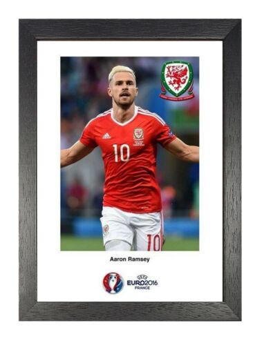 9 Aaron Ramsey Wales Photo Arsenal Print Euro 2016 Footballer Sports Poster
