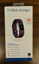 FITBIT CHARGE 2 PLUM BAND LARGE FITNESS TRACKER NEW IN BOX Free Shipping