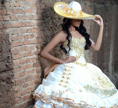 gold Embroidery 2019 Quinceanera Dresses Sweet 16 Dresses 15 15 15 Year Prom Gown a94883