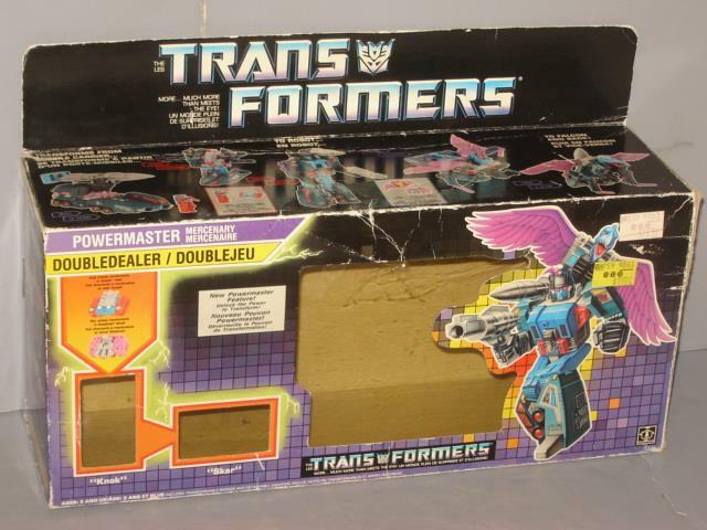 G1 TRANSFORMERS AUTOBOT POWERMASTER DOUBLEDEALER EMPTY BOX LOT   1