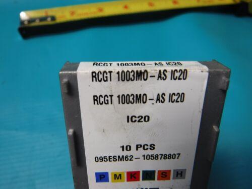 NEW ISCAR RCGT 1003MO-AS IC20 9 PCS.