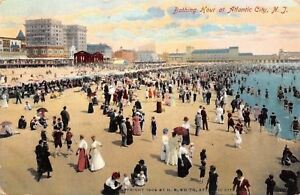 Atlantic-City-New-Jersey-Crowded-Bathing-Hour-Beach-Scene-1908-Postcard