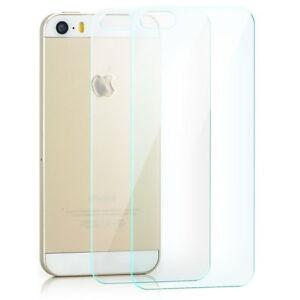 2x schutz glas folie r ckseite f r apple iphone se 5 5s echt glas schutz folie ebay. Black Bedroom Furniture Sets. Home Design Ideas