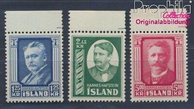 8304948 üPpiges Design Briefmarken Island 293-295 Postfrisch 1954 Hannes Hafstein Europa
