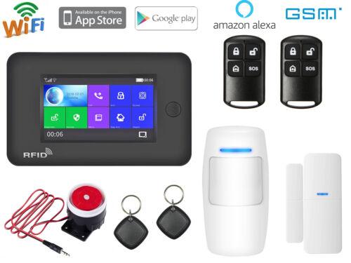 N91 APP WiFi GSM RFID Wireless Home Security Alarm Burglar System+Amazon Alexa