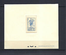 FRENCH MOROCCO 1946 MARSHAL LYAUTEY (Sc B29-31 CB25) DIE PROOFS on CARD *SCARCE*